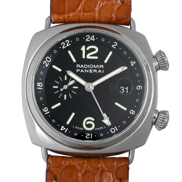 【48回払いまで無金利】パネライ ラジオミール GMT G番 PAM00184 メンズ(007UOPAU0075)【中古】【腕時計】【送料無料】