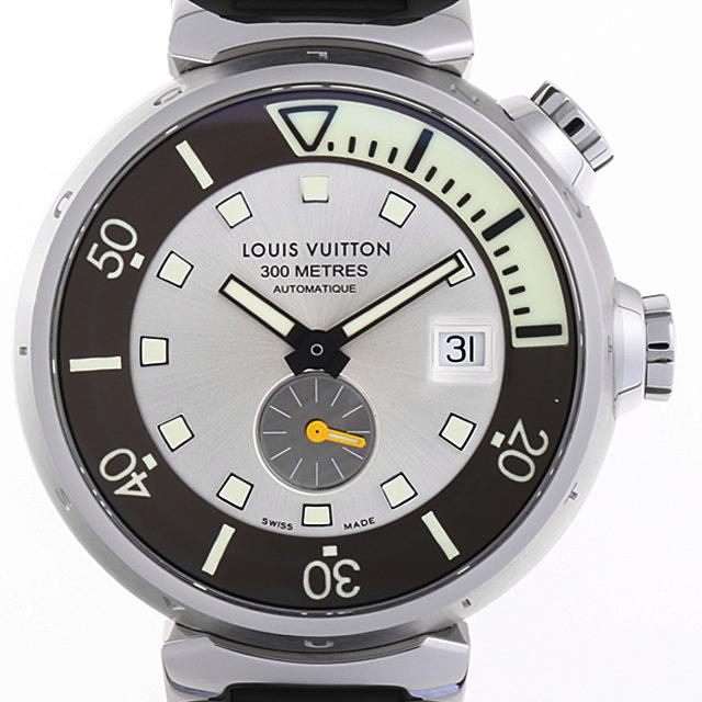 【48回払いまで無金利】ルイヴィトン タンブール ダイビング Q103M メンズ(008WLVAU0004)【中古】【腕時計】【送料無料】