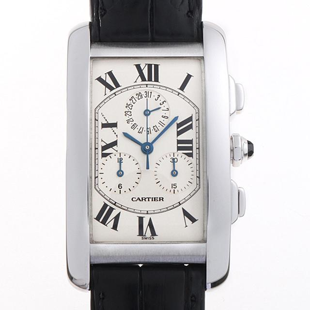 【48回払いまで無金利】カルティエ タンクアメリカン クロノリフレックス W2603356 メンズ(04OCCAAU0001)【中古】【腕時計】【送料無料】