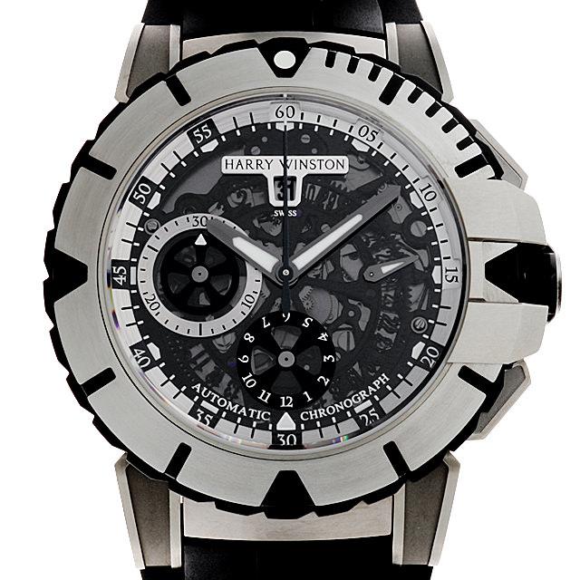 【48回払いまで無金利】SALE ハリーウィンストン オーシャンスポーツ オートマティック 411/MCA44ZC.W メンズ(0A89HWAU0001)【中古】【腕時計】【送料無料】