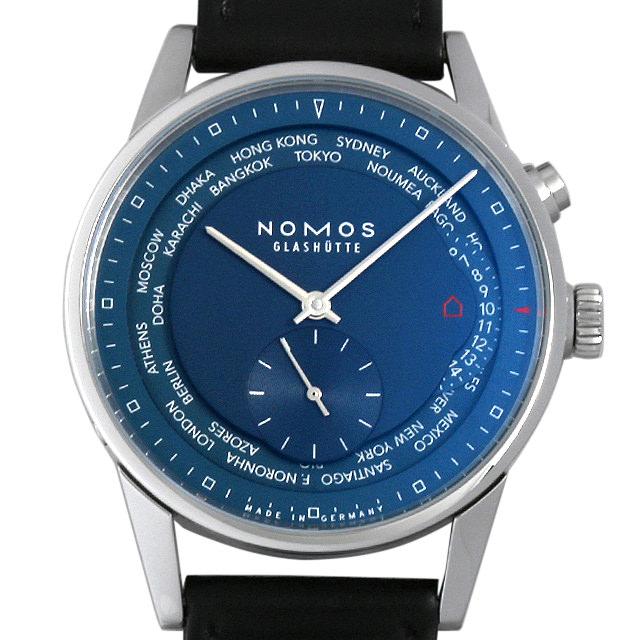 【48回払いまで無金利】SALE ノモス チューリッヒ ワールドタイマー トゥルーブルー ZR1X4BL2(807) メンズ(0C1DNOAU0001)【中古】【腕時計】【送料無料】