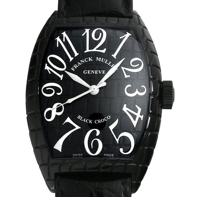 【48回払いまで無金利】SALE フランクミュラー トノーカーベックス ブラッククロコ 9880SC BLK CRO メンズ(001HFRAU0057)【中古】【腕時計】【送料無料】