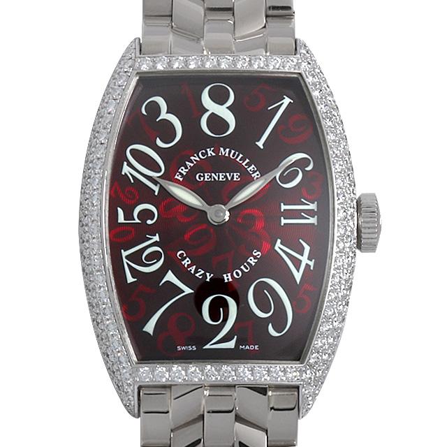 【48回払いまで無金利】SALE フランクミュラー トノーカーベックス クレイジーアワーズ ダイヤモンド 5850CH D OG メンズ(006XFRAU0087)【中古】【腕時計】【送料無料】