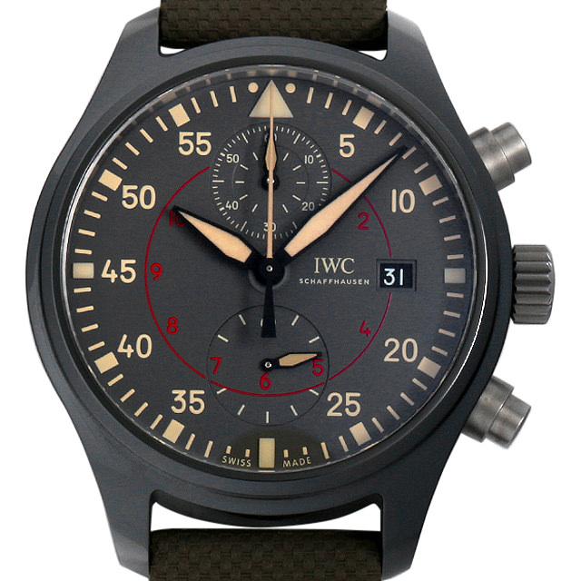 【48回払いまで無金利】SALE IWC パイロット・ウォッチ・クロノグラフ トップガン・ミラマー IW389002 メンズ(006XIWAU0087)【中古】【腕時計】【送料無料】