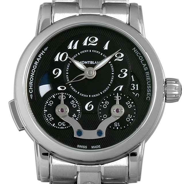 モンブラン ニコラ・リューセック クロノグラフ 106488 メンズ(006XMLAU0009)【中古】【腕時計】【送料無料】