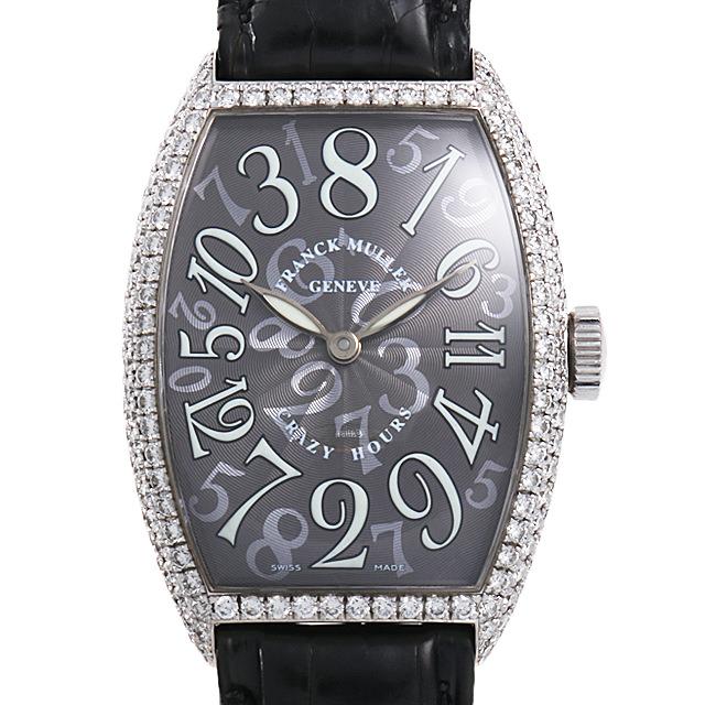 【48回払いまで無金利】SALE フランクミュラー トノーカーベックス クレイジーアワーズ ダイヤモンド 5850CH D OG メンズ(008WFRAU0075)【中古】【腕時計】【送料無料】