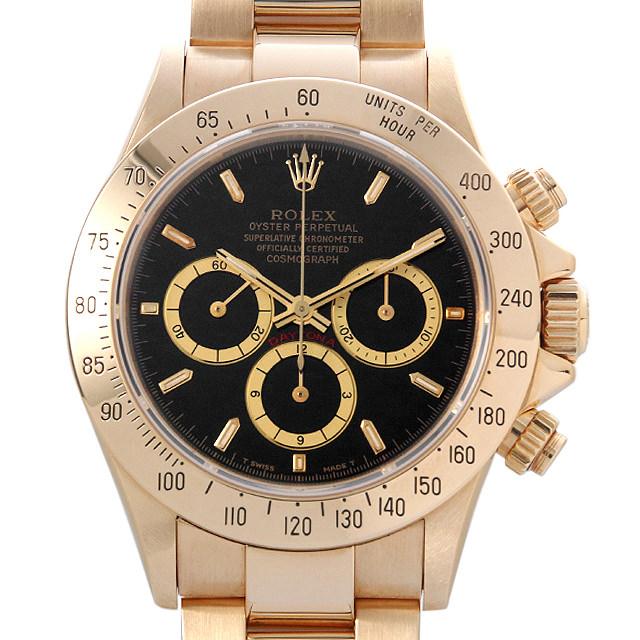 【48回払いまで無金利】ロレックス コスモグラフ デイトナ N番 16528 ブラック 逆6文字盤 メンズ(009VROAU0162)【中古】【腕時計】【送料無料】