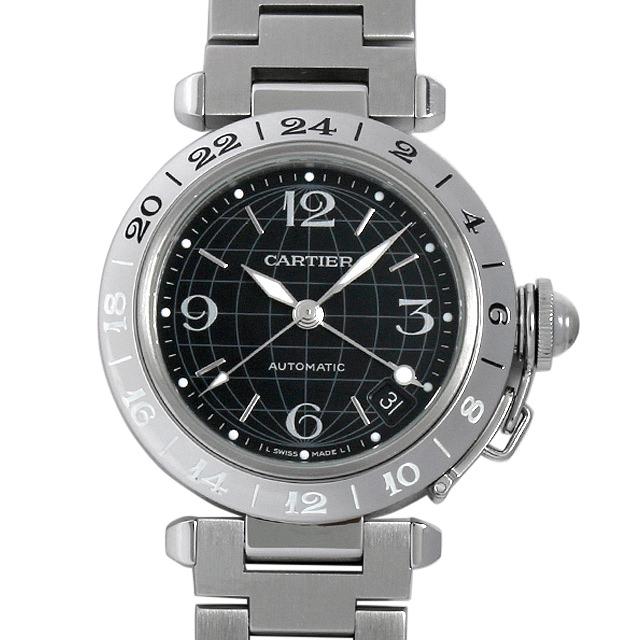 【48回払いまで無金利】カルティエ パシャC GMT メリディアン W31079M7 ボーイズ(ユニセックス)(0BCCCAAU0003)【中古】【腕時計】【送料無料】