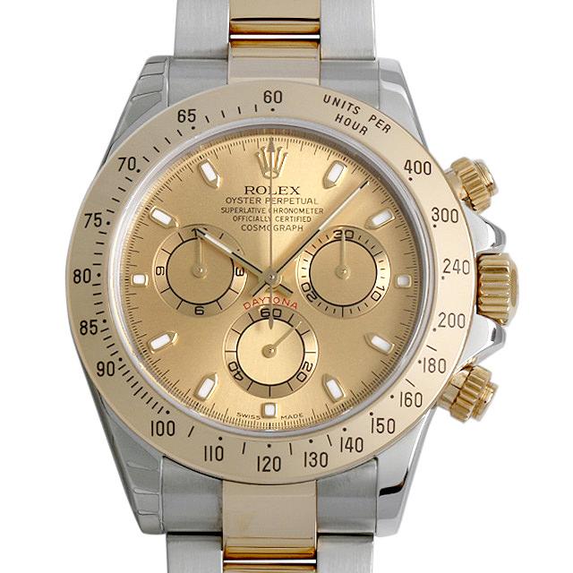 【48回払いまで無金利】ロレックス コスモグラフ デイトナ P番 116523 シャンパン メンズ(0063ROAU0165)【中古】【腕時計】【送料無料】