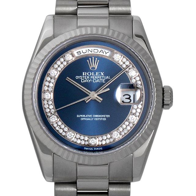 【48回払いまで無金利】SALE ロレックス デイデイト F番 118239MG ブルー/ミリヤードダイヤ メンズ(006XROAU0552)【中古】【腕時計】【送料無料】