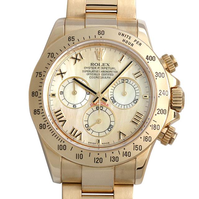 【48回払いまで無金利】SALE ロレックス コスモグラフ デイトナ D番 116528NR イエローシェル メンズ(008KROAU0086)【中古】【腕時計】【送料無料】