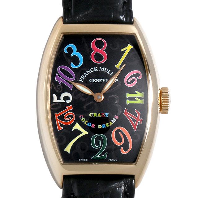 【48回払いまで無金利】フランクミュラー トノーカーベックス クレイジーアワーズ カラードリームス 5850CH CD 4N メンズ(009VFRAU0068)【中古】【腕時計】【送料無料】