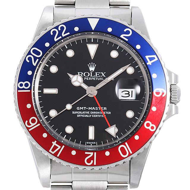 【48回払いまで無金利】SALE ロレックス GMTマスター 赤青ベゼル 94番 16750 メンズ(0C98ROAU0001)【中古】【腕時計】【送料無料】