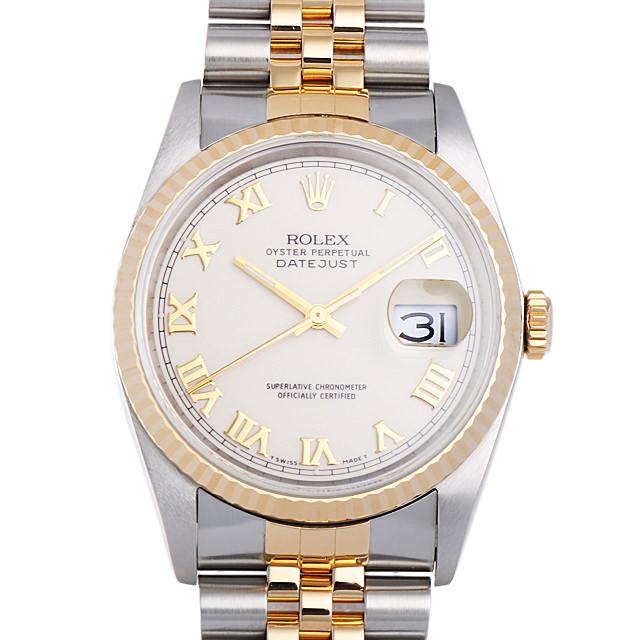 【48回払いまで無金利】ロレックス デイトジャスト R番 16233 アイボリー/ローマ メンズ(0DLWROAU0001)【中古】【腕時計】【送料無料】
