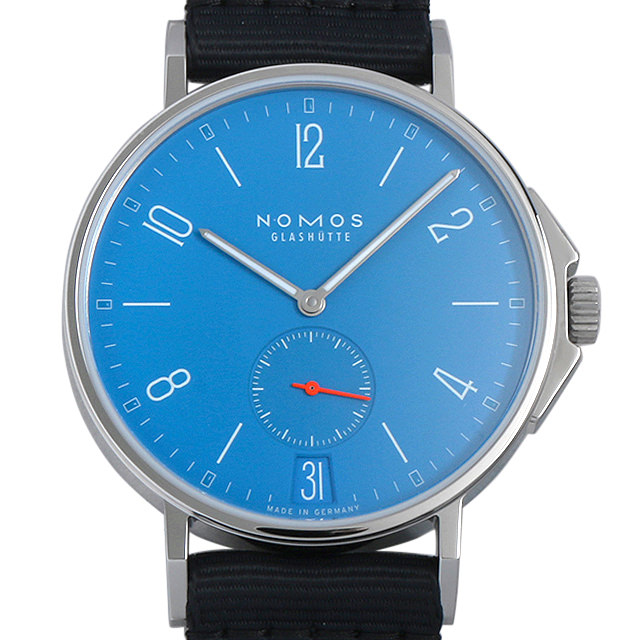 【48回払いまで無金利】ノモス アホイ デイト シグナルブルー AH151011SB2(554) メンズ(002GNOAR0032)【新品】【腕時計】【送料無料】