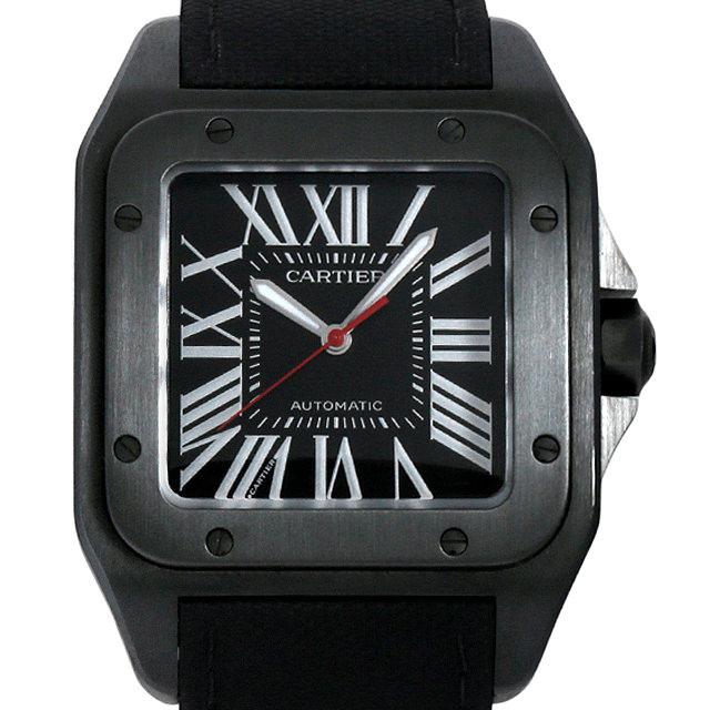 【48回払いまで無金利】カルティエ サントス 100 カーボンウォッチ WSSA0006 メンズ(009MCAAS0001)【中古】【未使用】【腕時計】【送料無料】