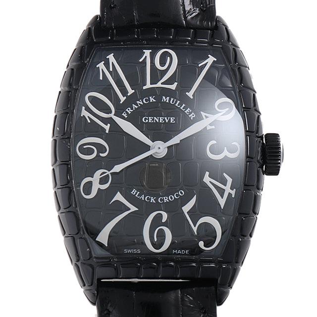 【48回払いまで無金利】SALE フランクミュラー トノーカーベックス ブラッククロコ 8880SC BLK CRO AC メンズ(001HFRAU0060)【中古】【腕時計】【送料無料】
