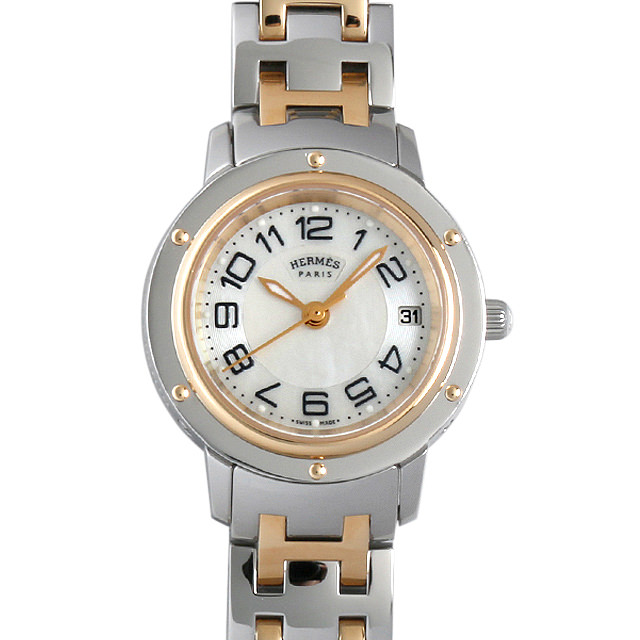 【48回払いまで無金利】SALE エルメス クリッパー CP1.220 レディース(001HHEAU0009)【中古】【腕時計】【送料無料】