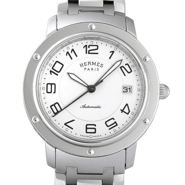 【48回払いまで無金利】エルメス クリッパー CP2.810.220/4964 メンズ(006THEAU0001)【中古】【腕時計】【送料無料】