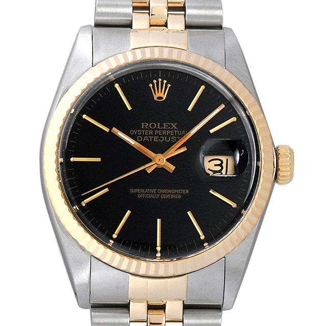 【48回払いまで無金利】ロレックス デイトジャスト R番 16013 ブラック/バー メンズ(006TROAU0006)【中古】【腕時計】【送料無料】
