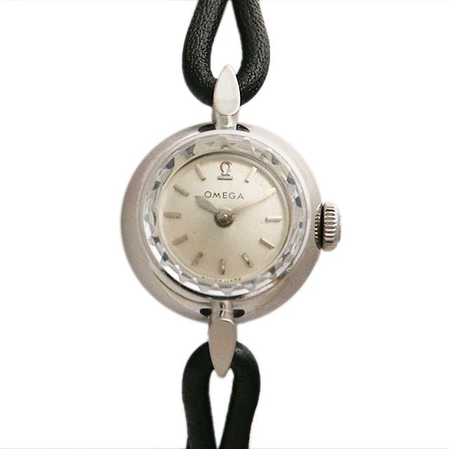 【48回払いまで無金利】オメガ カクテルウォッチ カットガラス 11010 レディース(006XOMAA0026)【アンティーク】【腕時計】【送料無料】
