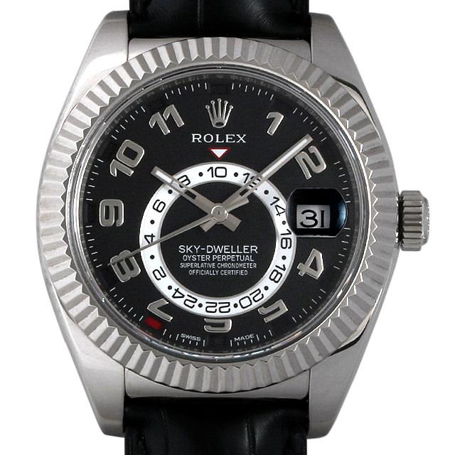 【48回払いまで無金利】ロレックス スカイドゥエラー 326139 ブラック/アラビア メンズ(006XROAU0574)【中古】【腕時計】【送料無料】