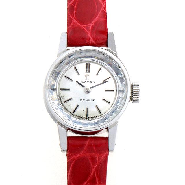 【48回払いまで無金利】SALE オメガ デ・ヴィル カットガラス ST511.166 レディース(007UOMAA0023)【アンティーク】【腕時計】【送料無料】