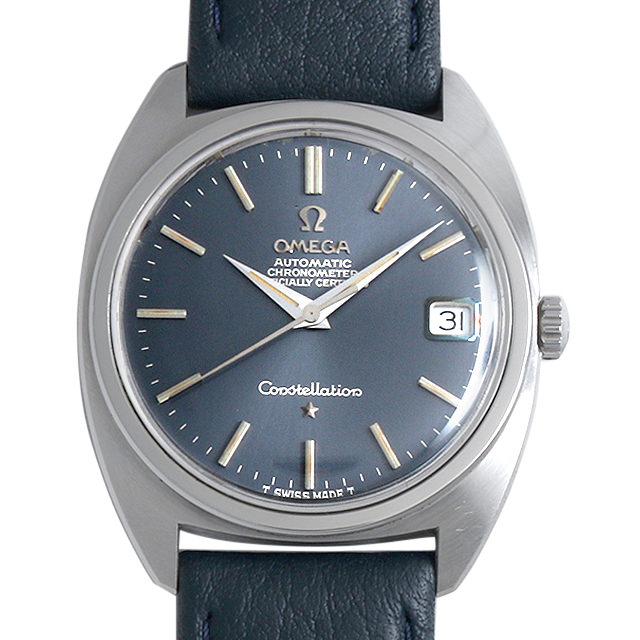 【48回払いまで無金利】オメガ コンステレーション ST168.017 ブルー/Cライン/前期型 メンズ(007UOMAA0024)【アンティーク】【腕時計】【送料無料】