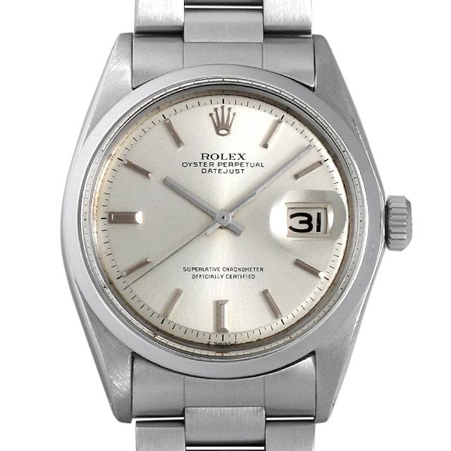 【48回払いまで無金利】ロレックス デイトジャスト 20番 1600 シルバー/バー メンズ(007UROAA0057)【アンティーク】【腕時計】【送料無料】