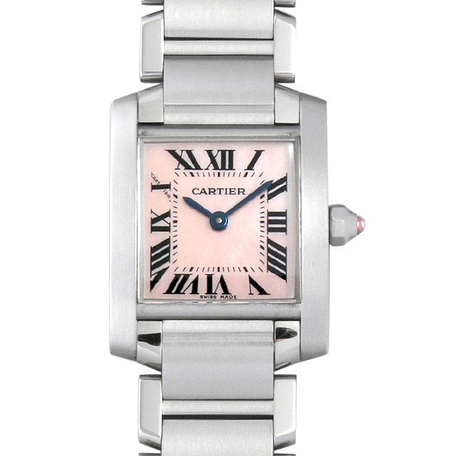 【48回払いまで無金利】カルティエ タンクフランセーズ SM W51028Q3 レディース(0087CAAU0061)【中古】【腕時計】【送料無料】