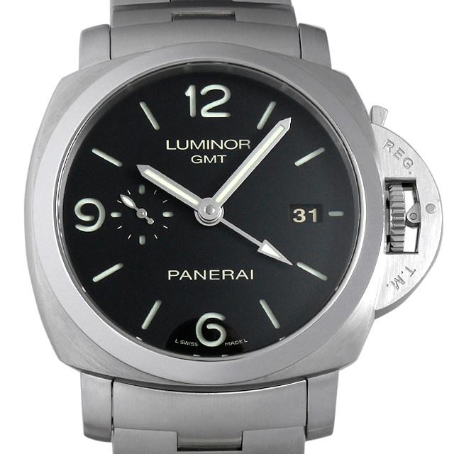 【48回払いまで無金利】パネライ ルミノール1950 3DAYS GMT P番 PAM00329 メンズ(0087OPAU0019)【中古】【腕時計】【送料無料】