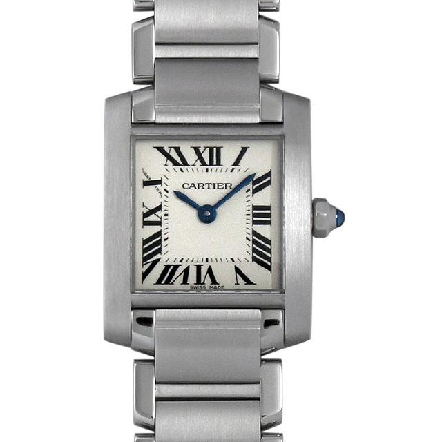 【48回払いまで無金利】カルティエ タンクフランセーズ SM W51008Q3 レディース(008KCAAU0038)【中古】【腕時計】【送料無料】