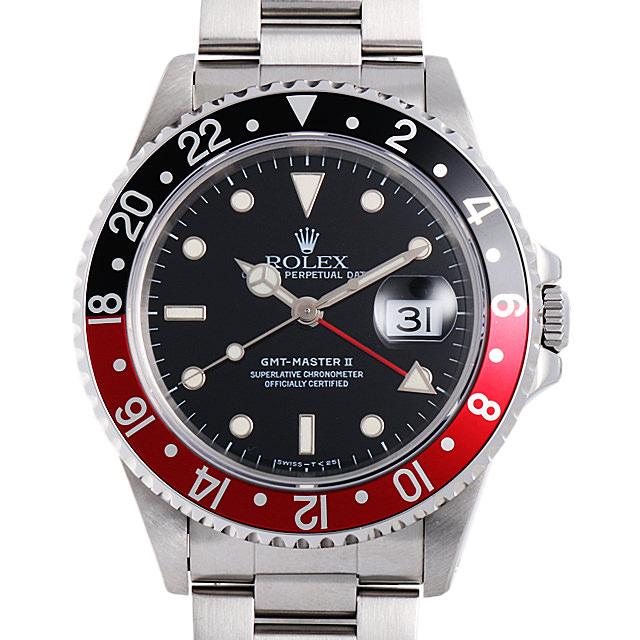 【48回払いまで無金利】ロレックス GMTマスターII 赤黒ベゼル T番 16710 メンズ(0ANUROAU0004)【中古】【腕時計】【送料無料】