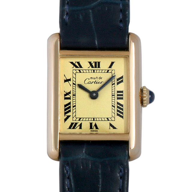 【48回払いまで無金利】カルティエ マストタンク SM レディース(0DCBCAAU0001)【中古】【腕時計】【送料無料】