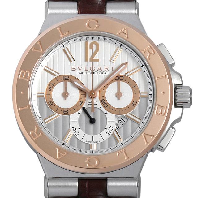 【48回払いまで無金利】ブルガリ ディアゴノ カリブロ303 DG42C6SPGLDCH メンズ(0DS8BVAU0001)【中古】【腕時計】【送料無料】