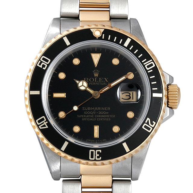 【48回払いまで無金利】SALE ロレックス サブマリーナデイト R番 16803 ブラック メンズ(0DYRROAU0003)【中古】【腕時計】【送料無料】