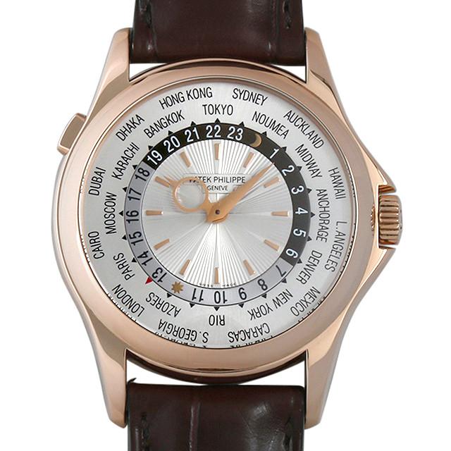 【48回払いまで無金利】パテックフィリップ ワールドタイム 5130R-001 メンズ(001HPPAU0048)【中古】【腕時計】【送料無料】