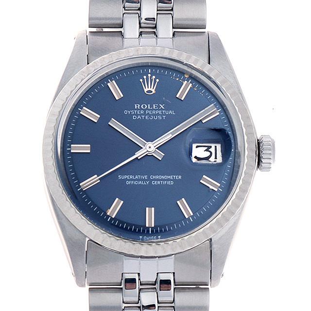 【48回払いまで無金利】ロレックス デイトジャスト 30番 ブルー/ワイドボーイ 1601 メンズ(001HROAA0020)【アンティーク】【腕時計】【送料無料】