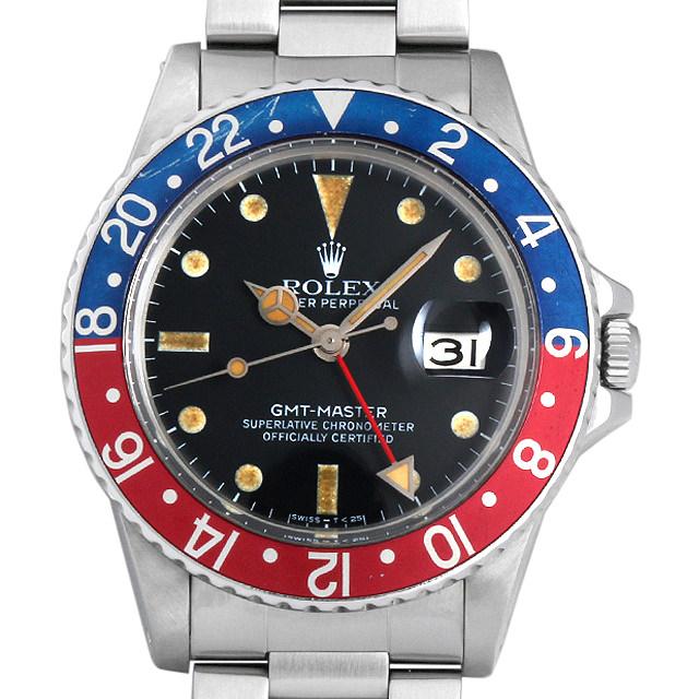【48回払いまで無金利】ロレックス GMTマスター cal.3075 66番 16750 メンズ(0063ROAU0175)【中古】【腕時計】【送料無料】