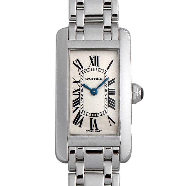 【48回払いまで無金利】カルティエ タンクアメリカン SM W26019L1 レディース(007UCAAU0098)【中古】【腕時計】【送料無料】