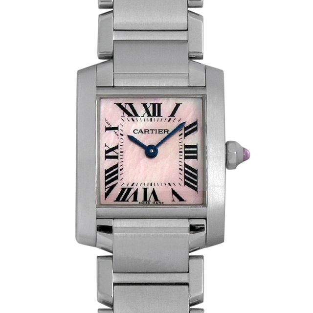 【48回払いまで無金利】カルティエ タンクフランセーズ SM W51028Q3 レディース(0087CAAU0065)【中古】【腕時計】【送料無料】