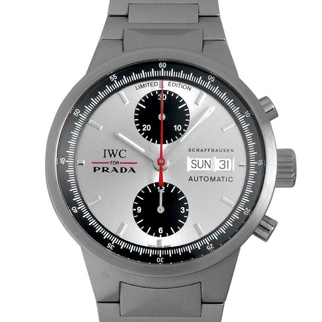 【48回払いまで無金利】IWC GSTクロノグラフ プラダ 世界限定2000本 IW370802 メンズ(008WIWAU0061)【中古】【腕時計】【送料無料】