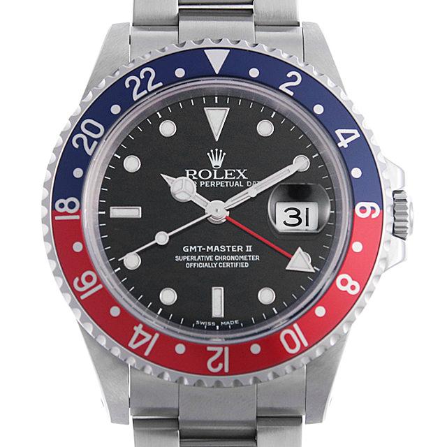 【48回払いまで無金利】ロレックス GMTマスターII 赤青ベゼル P番 16710 メンズ(0BCCROAU0021)【中古】【腕時計】【送料無料】