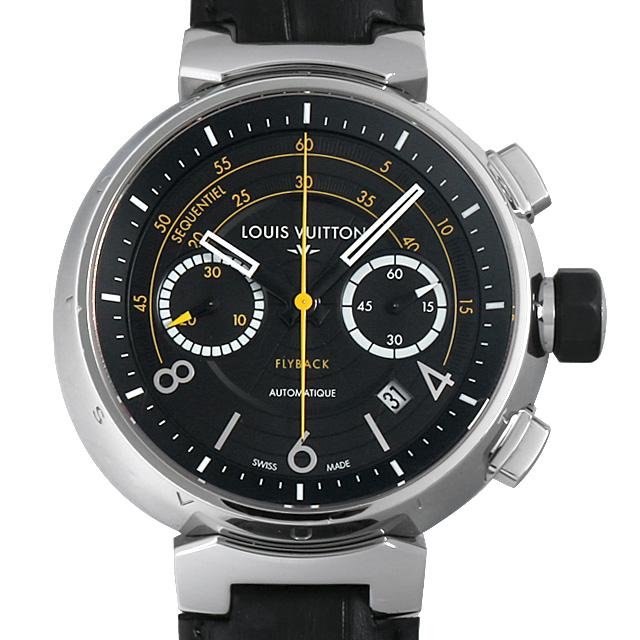 【48回払いまで無金利】ルイヴィトン タンブール フライバッククロノグラフ ヴォレ2 Q102BO メンズ(0EFMLVAU0001)【中古】【腕時計】【送料無料】