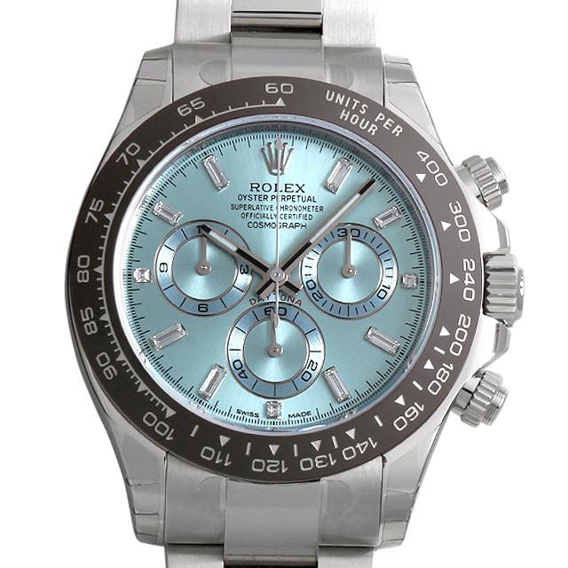 【48回払いまで無金利】ロレックス デイトナ 8Pバゲットダイヤ/3Pダイヤ 116506A アイスブルー メンズ(0GE8ROAN0001)【新品】【腕時計】【送料無料】