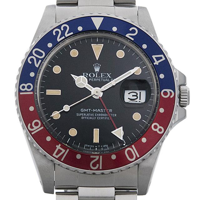 【48回払いまで無金利】ロレックス GMTマスター 赤青ベゼル 93番 16750 フチ有り メンズ(007UROAU0263)【中古】【腕時計】【送料無料】