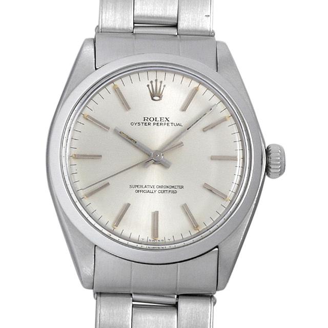 【48回払いまで無金利】ロレックス オイスターパーペチュアル Cal.1570 18番 1002 シルバー メンズ(008WROAA0029)【アンティーク】【腕時計】【送料無料】