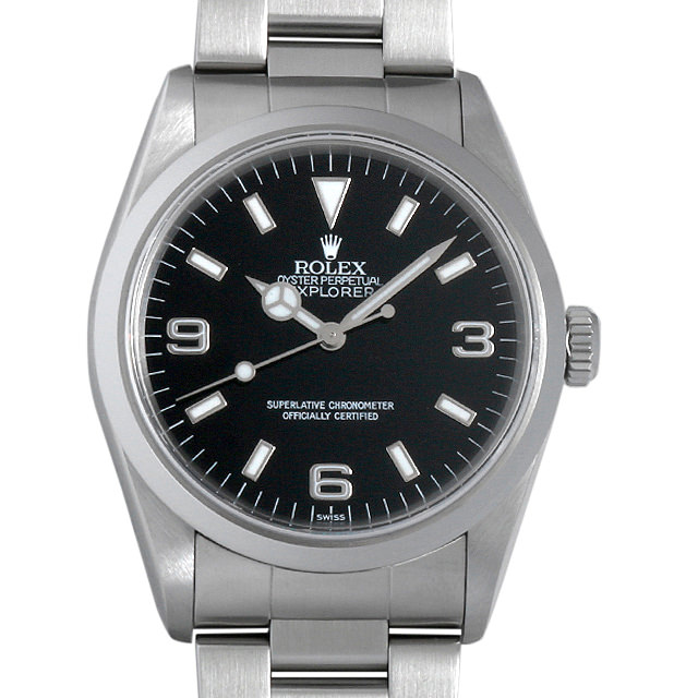 【48回払いまで無金利】ロレックス エクスプローラーI U番 14270 メンズ(0A89ROAU0040)【中古】【腕時計】【送料無料】