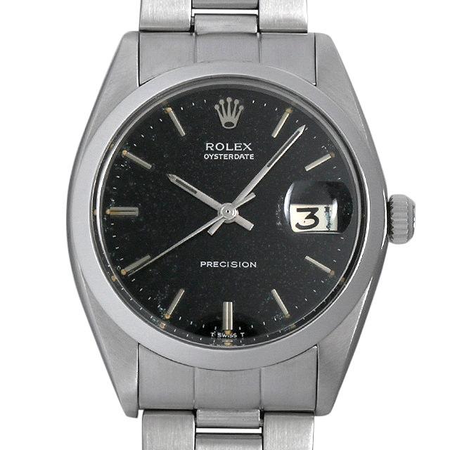 【48回払いまで無金利】ロレックス オイスターデイト プレシジョン Cal.1225 18番 6694 ブラック メンズ(0BCCROAA0009)【アンティーク】【腕時計】【送料無料】