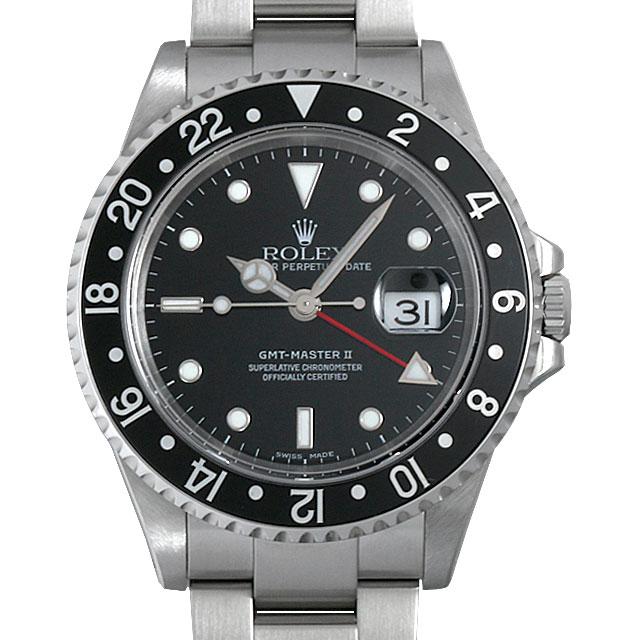 【48回払いまで無金利】ロレックス GMTマスターII 黒ベゼル Y番 16710 メンズ(0BCCROAU0026)【中古】【腕時計】【送料無料】